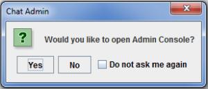 Admin console
