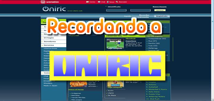 Recordando a: Oniric – Web de juegos multijugador