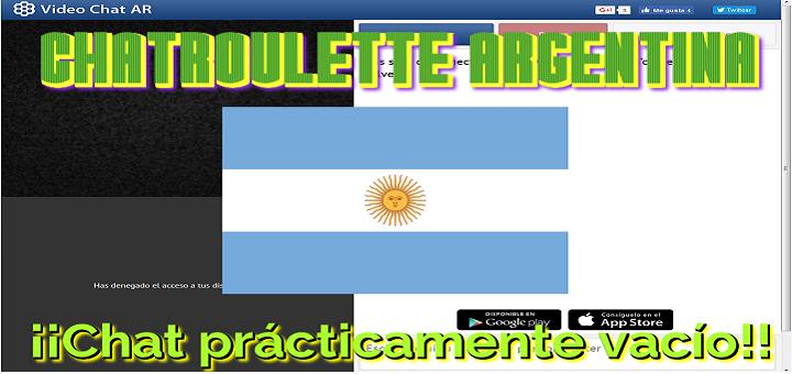 Chatroulette Argentina – Videochat AR – Chat prácticamente vacío