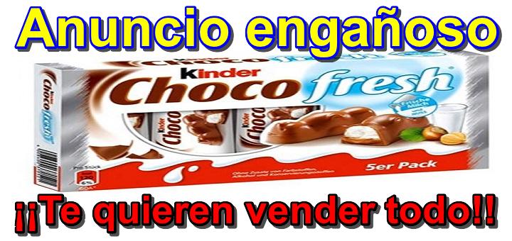 Kinder Choco Fresh – Correo spam engañoso