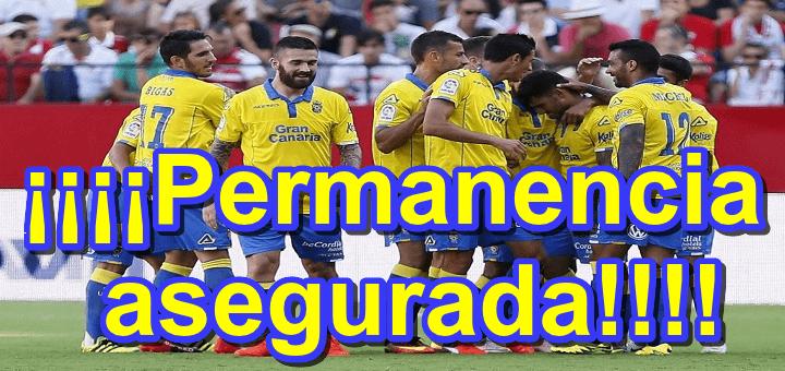 La UD Las Palmas consigue la permanencia al empatar ante el Alavés
