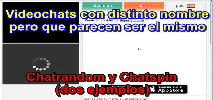 Videochats como chatrush alternativas a chatroulette (algunos parecen ser los mismos) – chatspin y chatrandom
