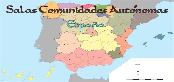 Nuevas salas de chat añadidas de las Comunidades Autónomas de España