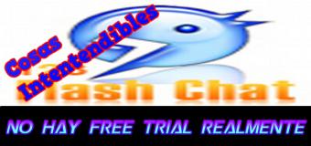 """El falso """"Free Trial"""" de 30 días de 123Flashchat de la web"""