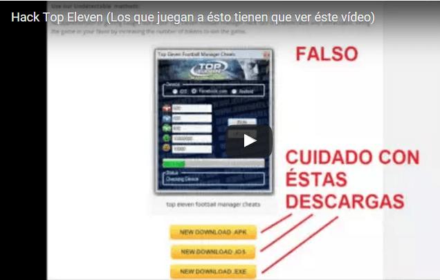 Información sobre el hack de tokens de Top Eleven (¡¡¡¡FRAUDE TODO!!!!)