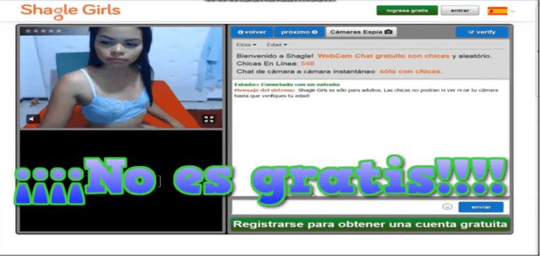 Chat de webcam Shagle ¿Estafa? Compruébenlo. Lo que dice ser gratis no lo es
