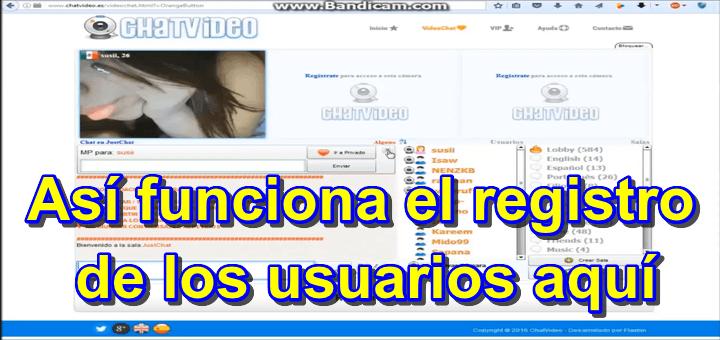 Chatvideo.es – Repaso del chat Audio y Webcam y la curiosa opción del registro que tienen que ver