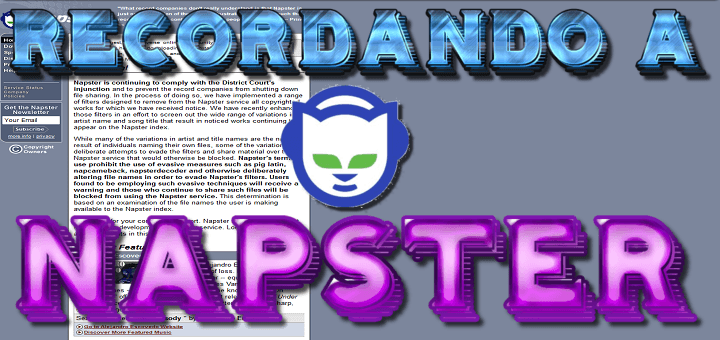 Recordando a: Napster – Programa magnífico de descarga de música