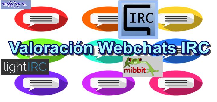 Valoración de 4 clientes webchat IRC