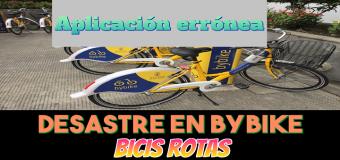 Bicicletas ByBike de Las Palmas en mal estado