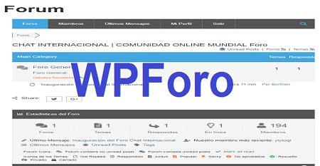 Wpforo, nuevo foro añadido a Chat Internacional