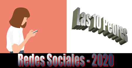 ▲ Las 10 peores redes sociales 2020